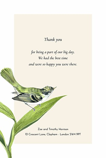 Wedding Thank You Cards Flora & fauna white - Page 3