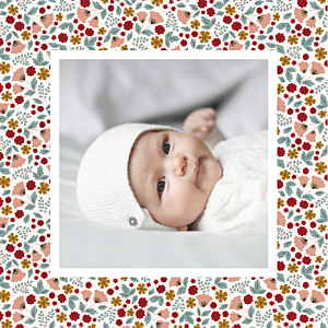 Seasonal blossoms fall baby thank you cards