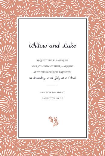 Wedding Invitations Idyllic coral