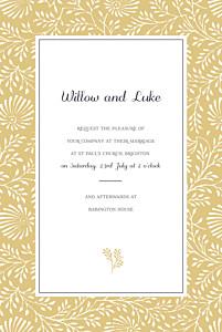Idyllic yellow yellow wedding invitations