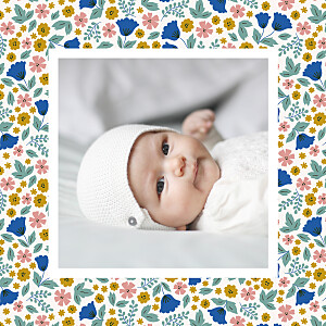 Seasonal blossoms (small) spring baby thank you cards