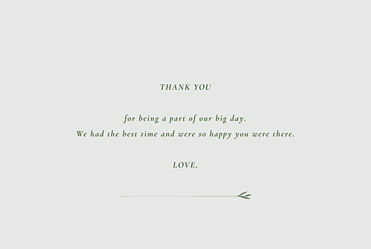Wedding Thank You Cards Forever ferns (4 pages) green - Page 3