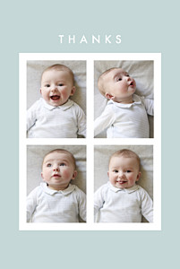 Magic moments 4 photos (foil) green green baby thank you cards