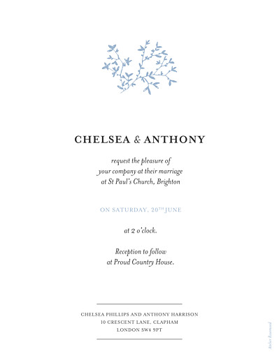 Wedding Invitations Reflections blue - Page 2
