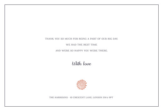 Wedding Thank You Cards Idyllic coral - Page 3