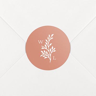 Idyllic coral wedding stickers