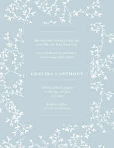Wedding Invitations Reflections portrait green