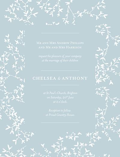 Wedding Invitations Reflections portrait green finition