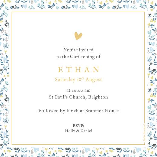 Christening Invitations Liberty heart blue - Page 2