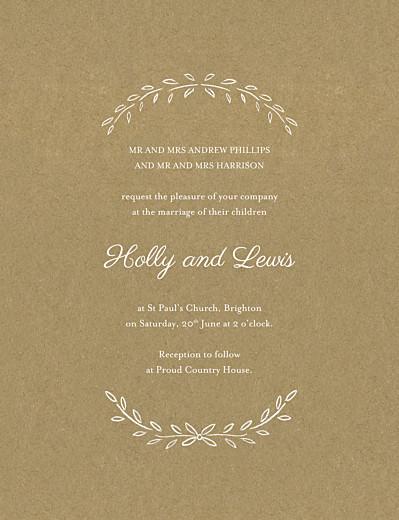 婚礼邀请诗人像牛皮纸