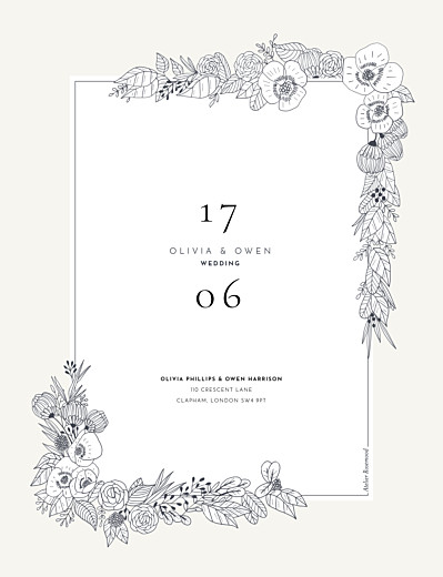 Wedding Invitations Secret garden portrait white - Page 2