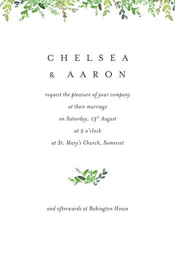 Wedding Invitations Canopy petite green