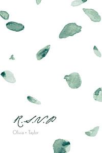 Eucalyptus white rsvp cards