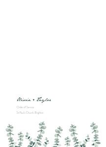 Eucalyptus white order of service booklets