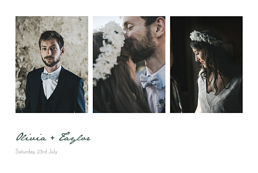 Wedding Thank You Cards Eucalyptus white