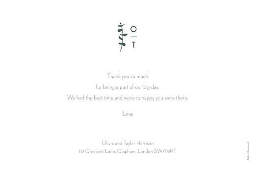 Wedding Thank You Cards Eucalyptus white - Page 2