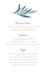 Moonlit meadow blue guest information cards