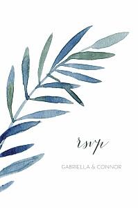 Moonlit meadow blue rsvp cards