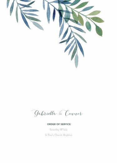 Wedding Order of Service Booklets Moonlit meadow blue