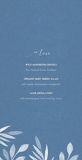 Wedding Menus Moonlit meadow blue - Page 3