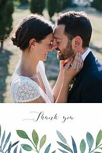 Moonlit meadow blue petite alma  wedding thank you cards