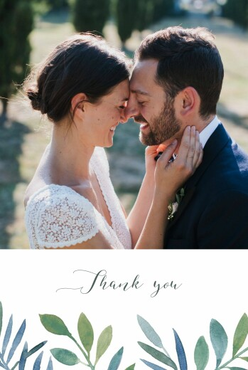 Wedding Thank You Cards Moonlit meadow blue