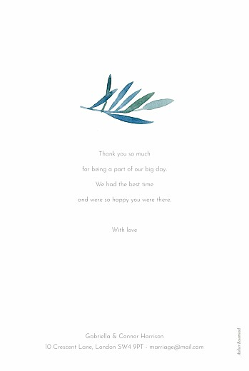 Wedding Thank You Cards Moonlit meadow blue - Page 2