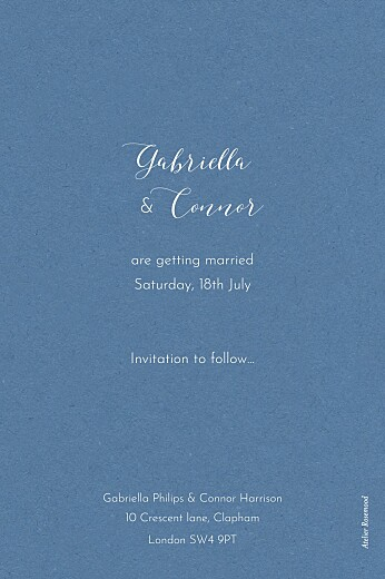 Save The Date Cards Moonlit meadow blue - Page 2