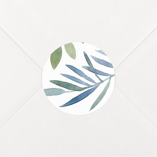 Wedding Envelope Stickers Moonlit meadow white - View 2