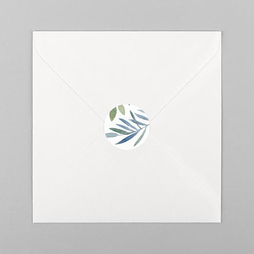 Wedding Envelope Stickers Moonlit meadow white - View 1