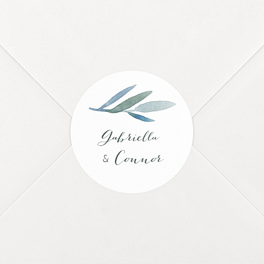 Wedding Stickers Moonlit meadow white - View 2