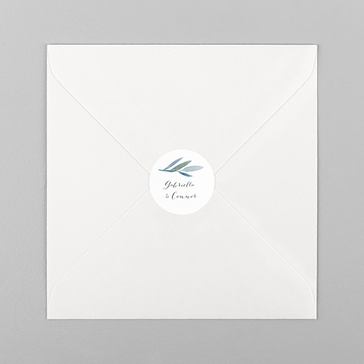 Wedding Stickers Moonlit meadow white - View 1