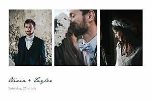 Eucalyptus white petite alma  wedding thank you cards