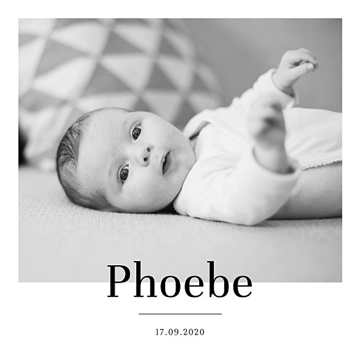Baby Announcements Modern chic white