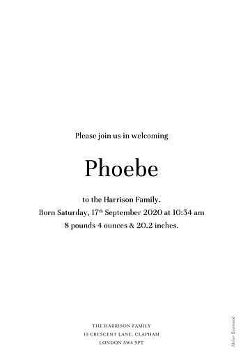Baby Announcements Modern chic portrait white - Page 2