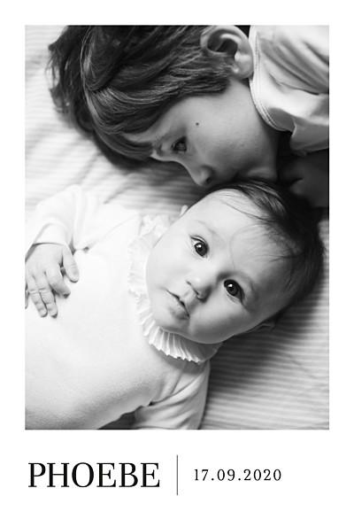 Baby Announcements Modern photo portrait white finition