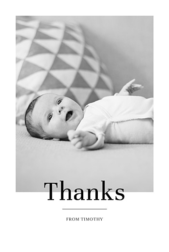 Baby Thank You Cards Modern chic portrait white