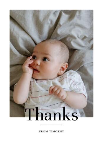 婴儿感谢卡现代时尚人像白色