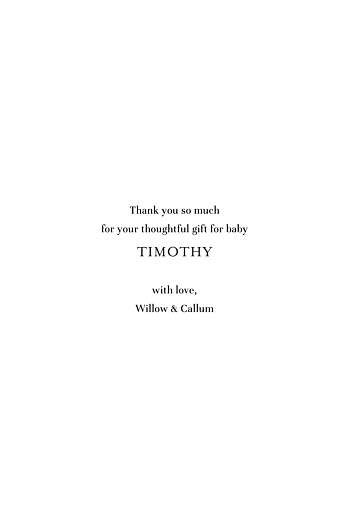 Baby Thank You Cards Modern chic portrait white - Page 3