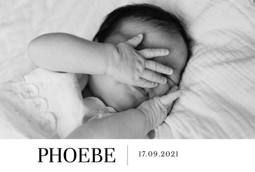 Baby Announcements Modern photo landscape white