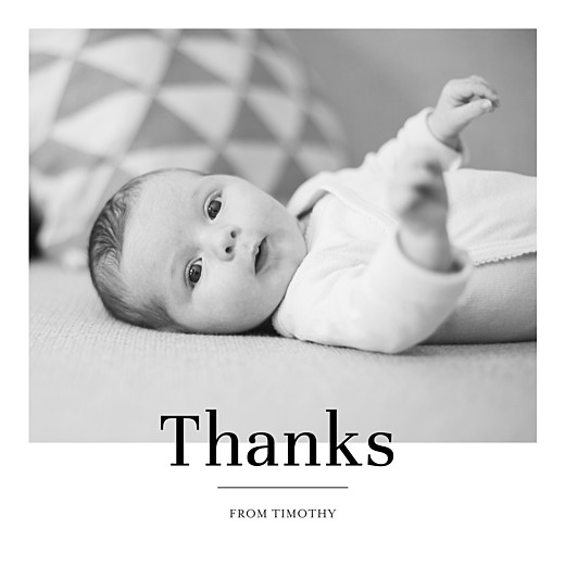 Baby Thank You Cards Modern chic white