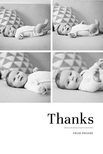 Baby Thank You Cards Modern chic 4 photos white finition