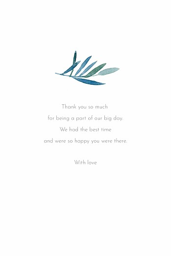 Wedding Thank You Cards Moonlit meadow blue - Page 3