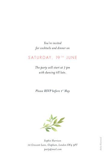Birthday Invitations Spring blossom portrait cream - Page 2