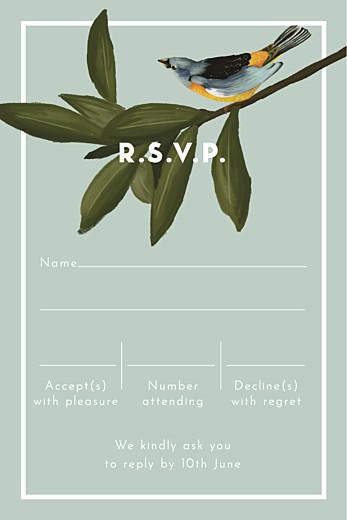 RSVP Cards The botanist (portrait) blue