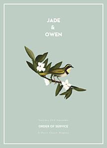 The botanist blue order of service booklets
