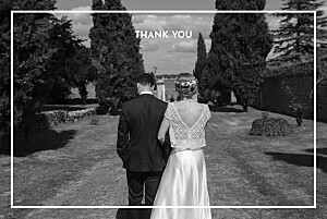 The botanist blue cocorrina  wedding thank you cards