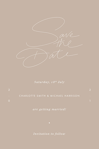 Save The Date Cards Thread beige