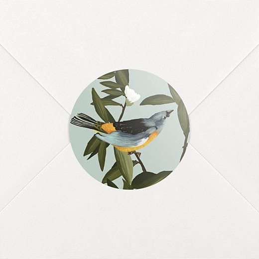 Wedding Envelope Stickers The botanist blue & yellow - View 2