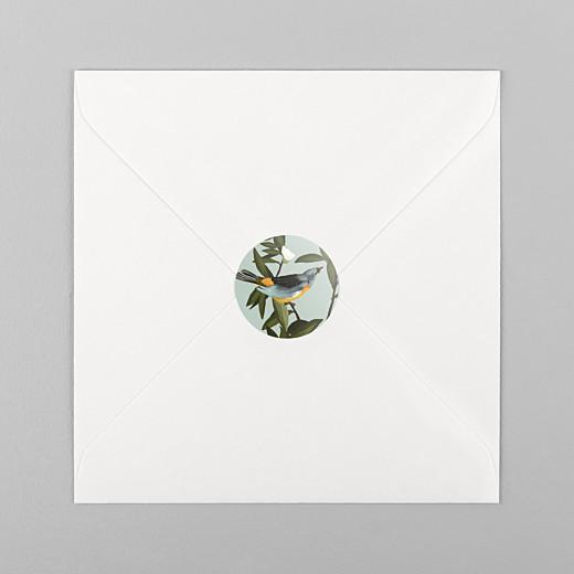 Wedding Envelope Stickers The botanist blue & yellow - View 1